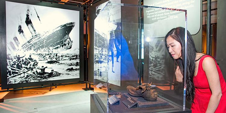 A titanic exhibit at Lipont Place
