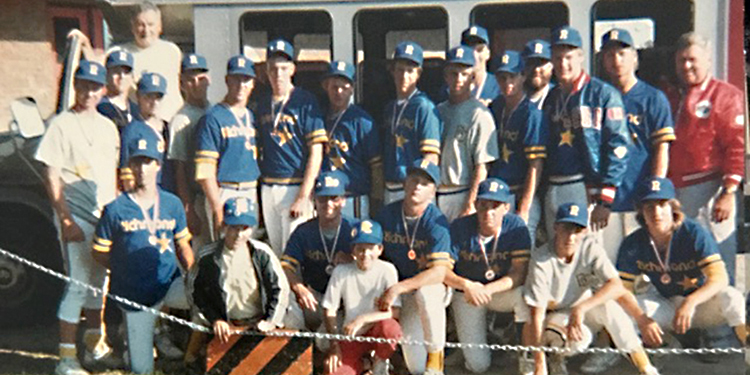 Colts BC's first baseball medallists