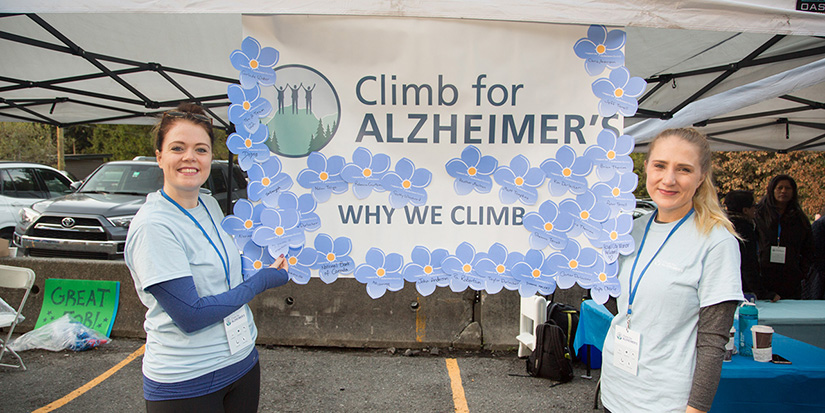 Climb for Alzheimer's goes online