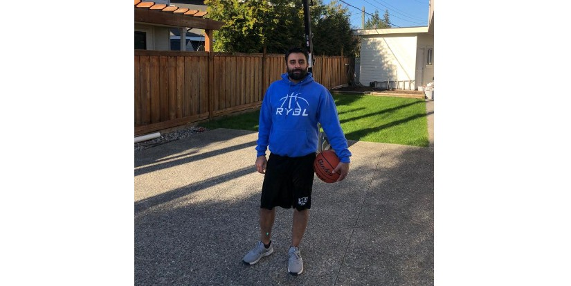 RYBL coach Dhillon posting basketball drills