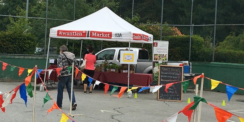 Kwantlen farmers market open for business