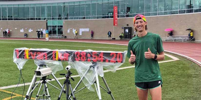 Dunfee shatters national record