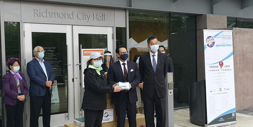 BC's Taiwan chamber donating masks to seniors homes