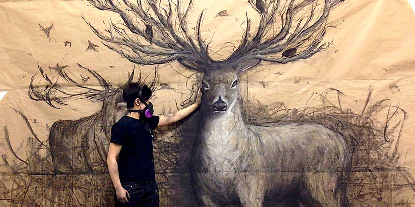 Animal-inspired artist awes with large-scale works