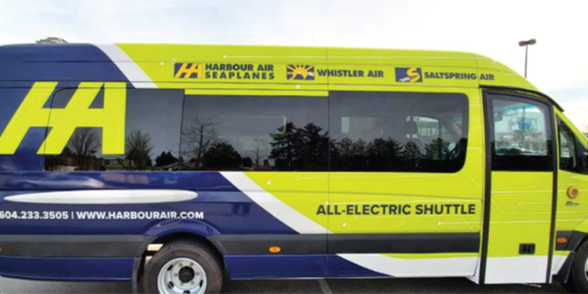 Harbour Air pioneers electric shuttle bus