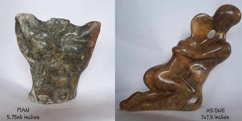 Soapstone carvings celebrate human existence