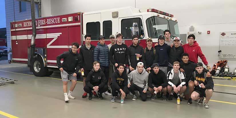 Sockeyes bond over firefighter challenge