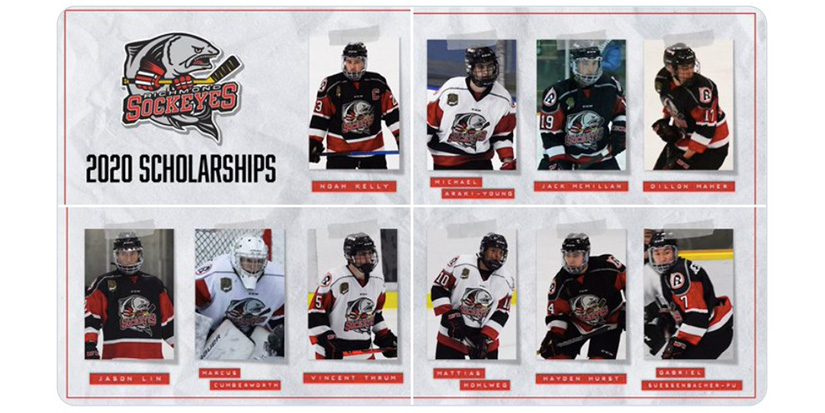 Sockeyes hand out scholarships