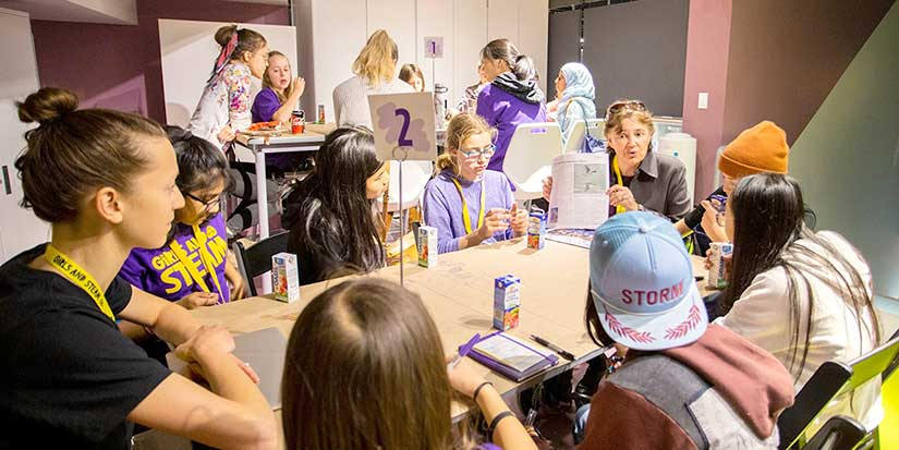Girls meet STEAM mentors at Science World