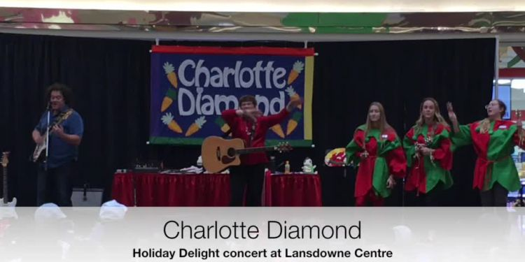 Charlotte Diamond welcomes Santa