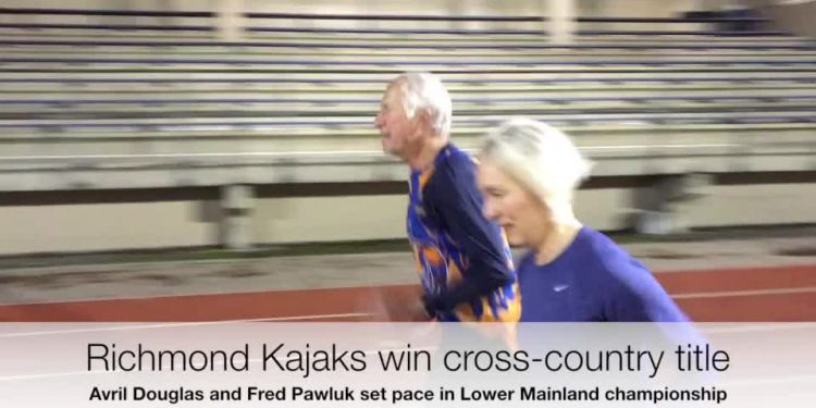 Kajaks are cross-country champions. With seasoned runners Avril Douglas and Fred Pawluk helping set the pace, all of the Richmond Kajaks' training paid off in their winning the Lower Mainland cross-country championship.