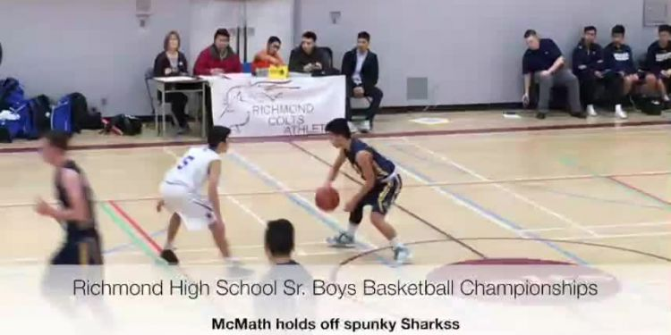 High school hoops thriller. Regular-season champion McMath Wildcats (10-0) held off a spunky Steveston-London Sharks (6-4) 80-70 in the opening round of the 2018 Richmond Secondary Schools Senior Boys Basketball Championships Tuesday.