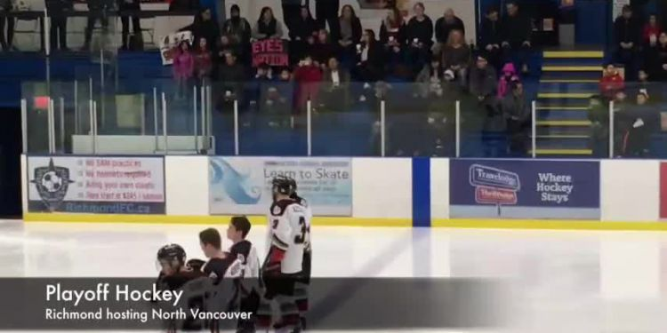 Sockeyes take 2-1 series lead. Richmond up on North Vancouver in first-round hockey playoffs.