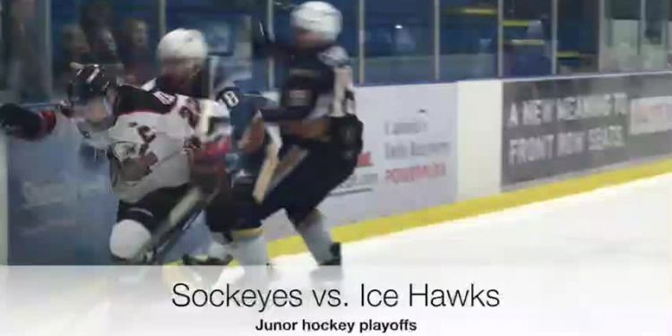 Tunnel series. Richmond Sockeyes will be looking for a win Tuesday in Delta when their playoff series with the Ice Hawks resumes. The Hawks lead the Tom Shaw Conference final 2 games to 0. Game 4 is set for Minoru Arenas 7 p.m. Thursday.