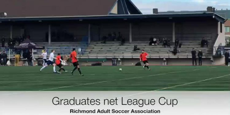 Graduates net League Cup. Richmond Graduates celebrated Soccer Sunday by winning the Don Taylor League Cup title.