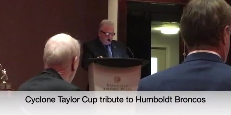 Cyclone Taylor Cup pays tribute to Humboldt Broncos