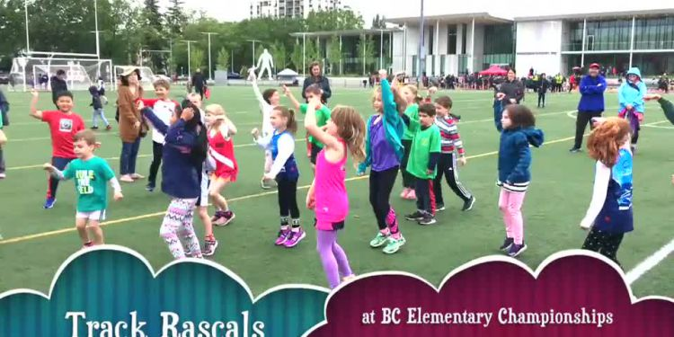 Track Rascals at B.C. elementary championships